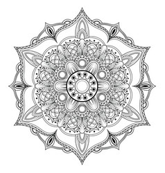 oriental mandala coloring page vector image
