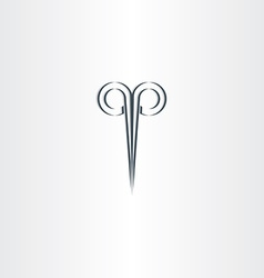 scissors hair salon stylized black logo vector image vector image