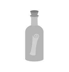 Scroll in bottle vector