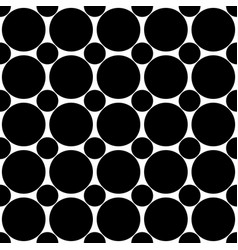 Seamless abstract black and white polka dot vector