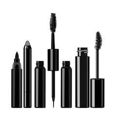 set of eye makeup vector image