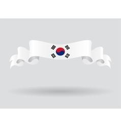 South korean wavy flag vector