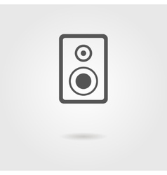 speaker icon with shadow vector image vector image