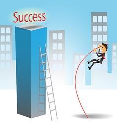 Success jumping vector