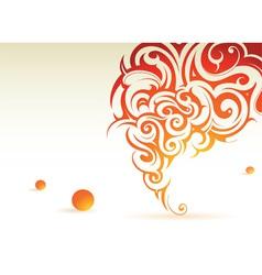 Swirl background vector image