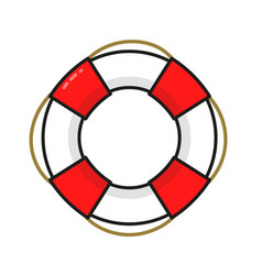 vintage lifebuoy modern line vector image
