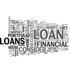 what loan to get text word cloud concept vector image vector image