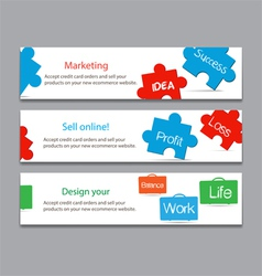 Works and success life on keyboard banner vector