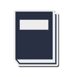 closed book icon vector image