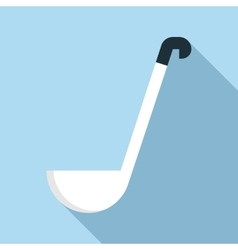Soup ladle icon flat style vector