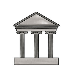 Color blurred stripe of parthenon icon vector