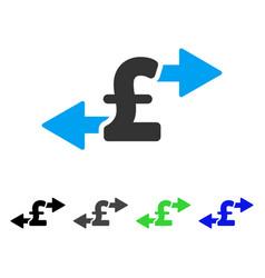 Spend pound money flat icon vector