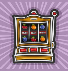 Slot machine vector