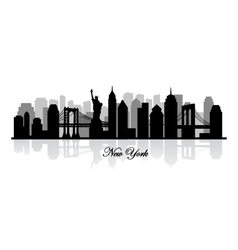 New york skyline silhouette vector