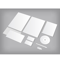 Set of ci templates mock-up with business cards vector