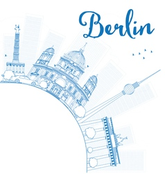 Berlin skyline with blue building vector