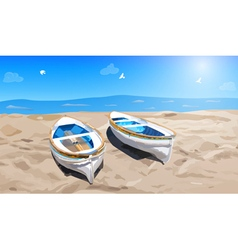 Two small boats vector
