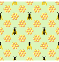 Pattern with yellow wasps vector