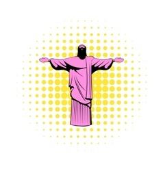 Rio de janeiro christ icon comics style vector