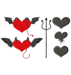 Angel and devil elements set vector image