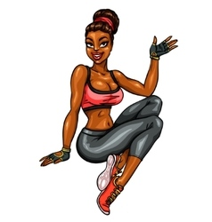 Beautiful fit woman vector