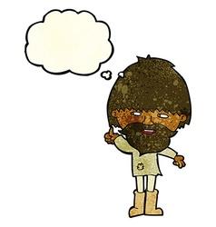 Cartoon hippie man in wellington boots with vector
