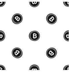 coin bat pattern seamless black vector image vector image