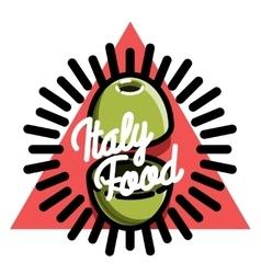 Color vintage italy food emblem vector
