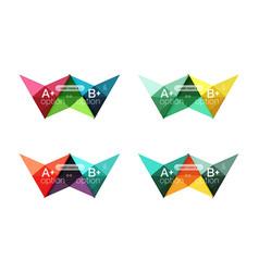 Colorful option banner arrow templates vector
