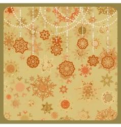 Colorful retro snowflake vector image