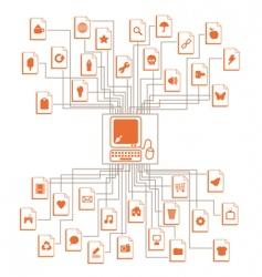 computer files vector image