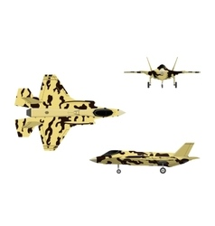 Fighter jet war plane in flat style vector