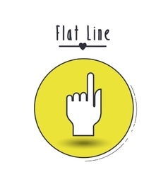 flat line icon design vector image