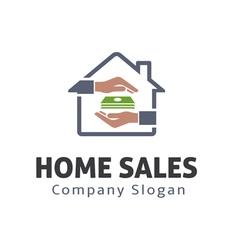 Home sales design vector