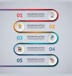 Infographic banner with 5 options steps parts vector image vector image