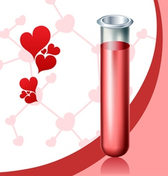 Love chemistry vector
