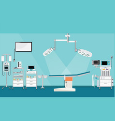 Medical hospital surgery operation with medical vector