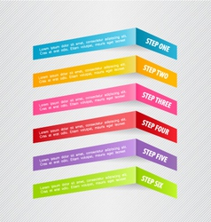 Modern 3d infographic colorful design template vector image vector image