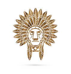 Native american indian chief vector