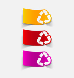 Realistic design element recycle sign vector