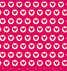 seamless pattern with pink hearts repeating vector image vector image