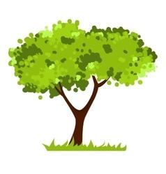 Stylized tree isolated on white background vector image