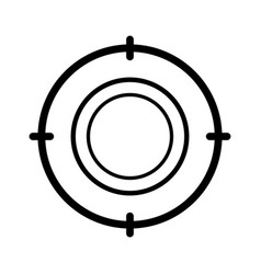Target success isolated icon vector