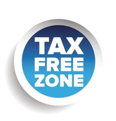 Tax free blue sticker vector