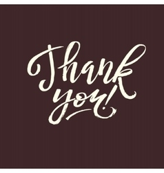 Thank You Card Calligraphic Inscription Hand vector image