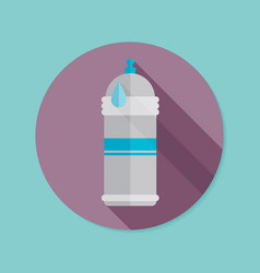 Water bottle flat icon with long shadow eps10 vector