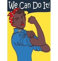We can do it world war 2 poster boosting morale vector