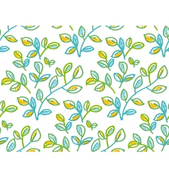 Tender spring foliage seamless pattern in hand vector image