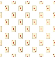 Playing card diamonds pattern cartoon style vector