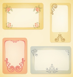 Set of art nouveau labels vector